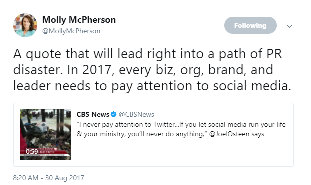 Molly McPherson Hurricane Harvey tweet